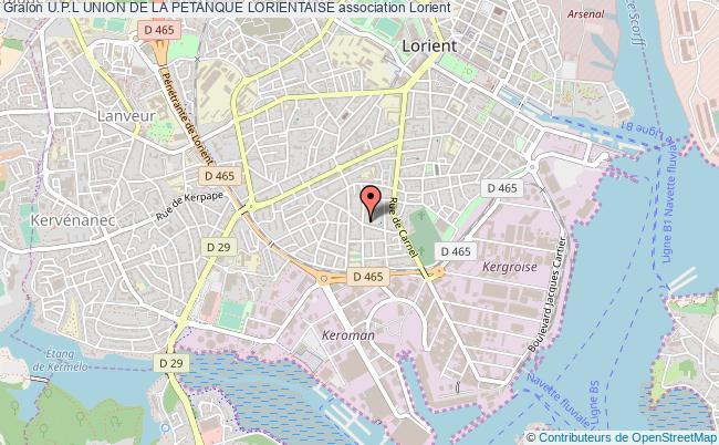 plan association U.p.l Union De La Petanque Lorientaise
