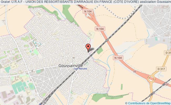 plan association U.r.a.f - Union Des Ressortissants D'arraguie En France (cÔte D'ivoire) Goussainville
