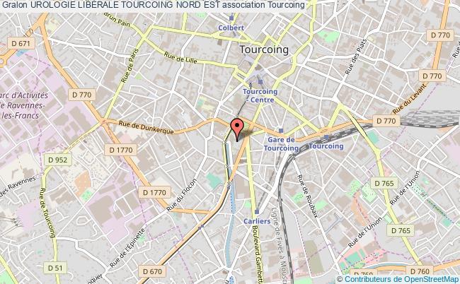 plan association Urologie LibÉrale Tourcoing Nord Est