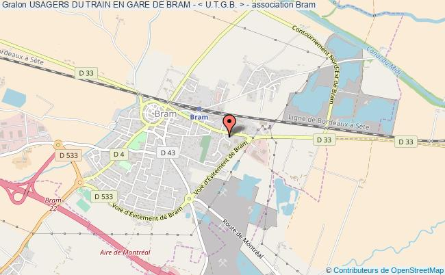 plan association Usagers Du Train En Gare De Bram - < U.t.g.b. > -