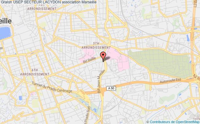 plan association Usep Secteur Lacydon Marseille
