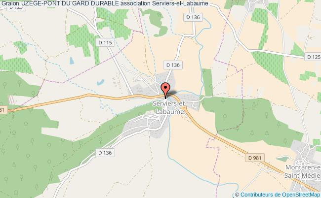 plan association Uzege-pont Du Gard Durable Serviers-et-Labaume