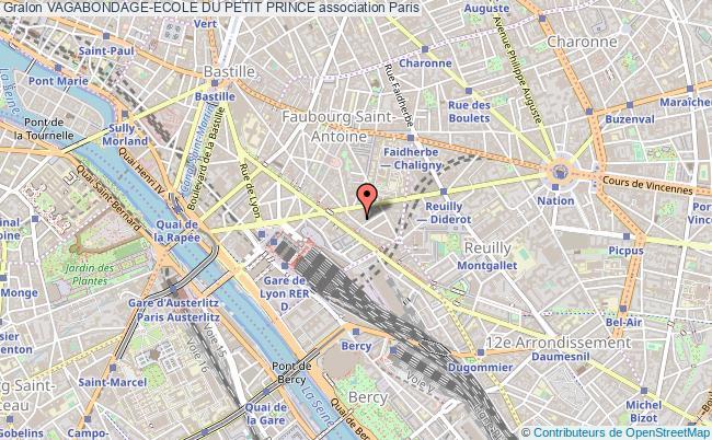 plan association Vagabondage-ecole Du Petit Prince Paris