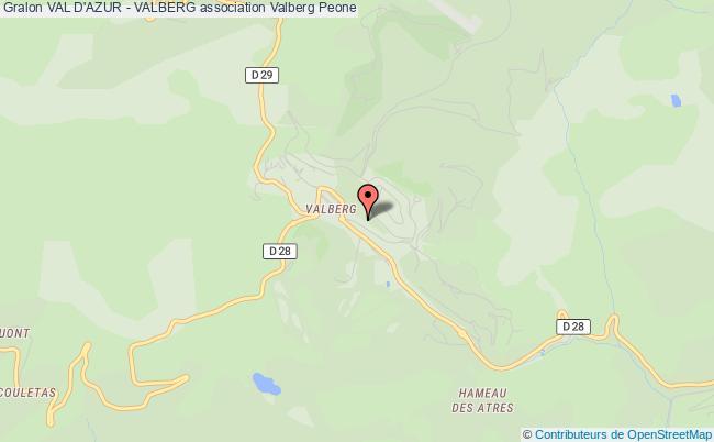 plan association Val D'azur - Valberg