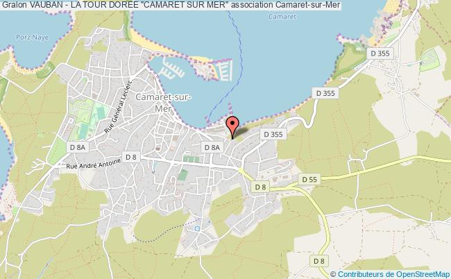 "plan association Vauban - La Tour Doree ""camaret Sur Mer"""