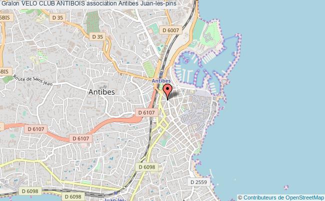 plan association Velo Club Antibois Antibes Juan-les-pins