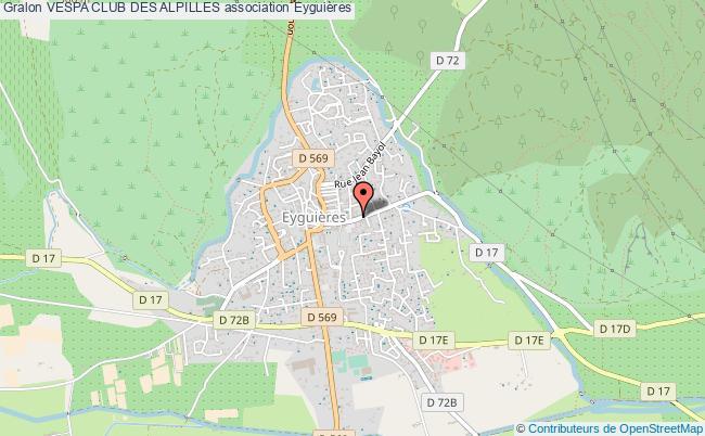 plan association Vespa Club Des Alpilles Eyguières