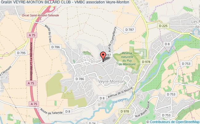 plan association Veyre-monton Billard Club - Vmbc