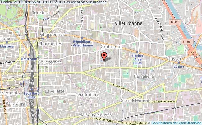 plan association Villeurbanne C'est Vous