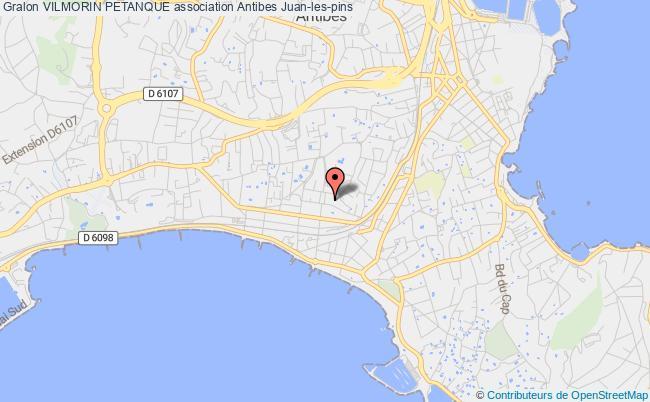 plan association Vilmorin Petanque Antibes