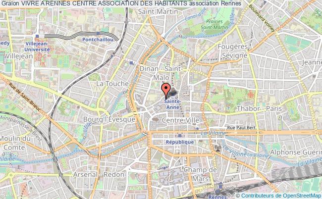 plan association Vivre A Rennes Centre Association Des Habitants Rennes