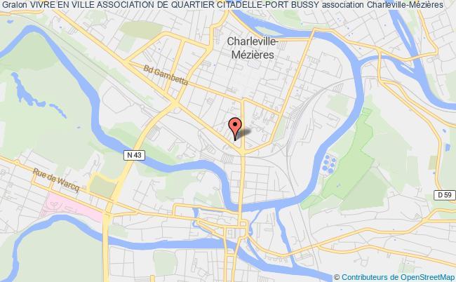 plan association Vivre En Ville Association De Quartier Citadelle-port Bussy