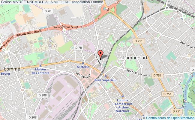plan association Vivre Ensemble A La Mitterie Lomme