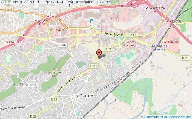 plan association Vivre Son Deuil Provence - Var La Garde
