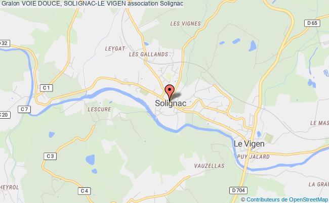 plan association Voie Douce, Solignac-le Vigen