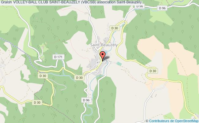 plan association Volley-ball Club Saint-beauzely (vbcsb)