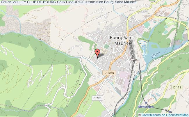 plan association Volley Club De Bourg Saint Maurice
