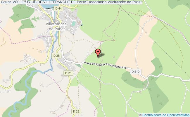 plan association Volley Club De Villefranche De Panat