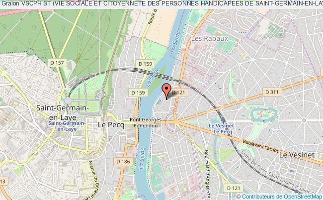 plan association Vscph St (vie Sociale Et Citoyennete Des Personnes Handicapees De Saint-germain-en-laye) Le    Pecq