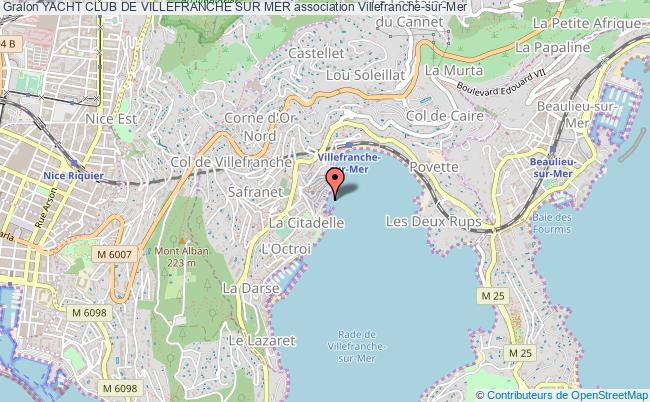 plan association Yacht Club De Villefranche Sur Mer
