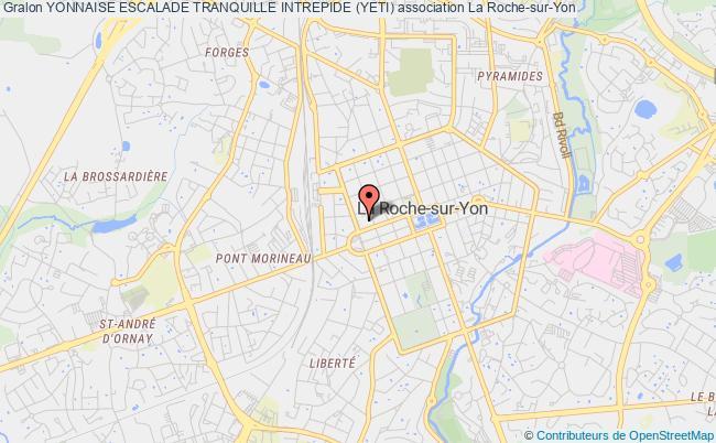 plan association Yonnaise Escalade Tranquille Intrepide (yeti) La Roche-sur-Yon