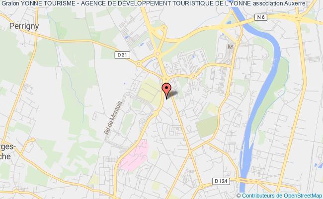 plan association Yonne Tourisme - Agence De DÉveloppement Touristique De L'yonne