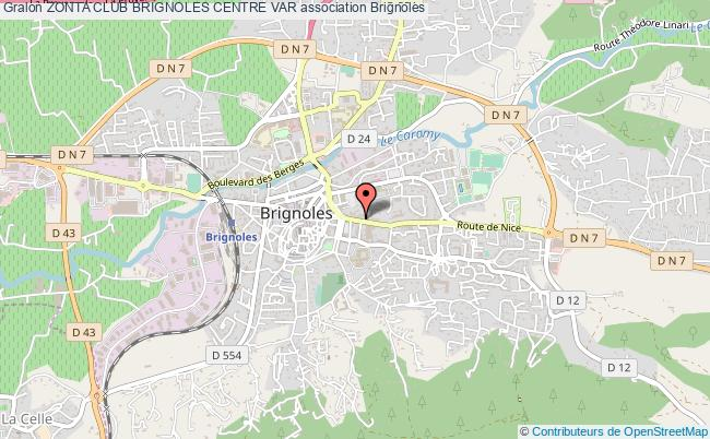 plan association Zonta Club Brignoles Centre Var