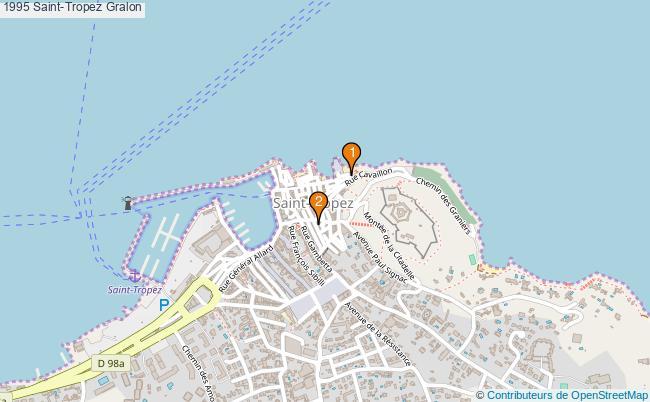 plan 1995 Saint-Tropez Associations 1995 Saint-Tropez : 2 associations