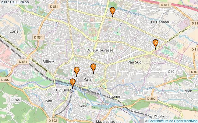 plan 2007 Pau Associations 2007 Pau : 5 associations