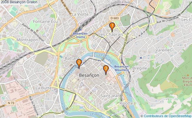 plan 2008 Besançon Associations 2008 Besançon : 3 associations