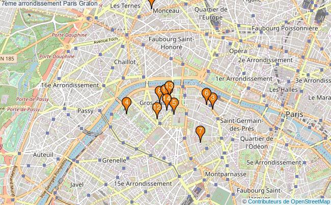 plan 7ème arrondissement Paris Associations 7ème arrondissement Paris : 16 associations