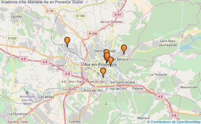 plan Académie d'Aix-Marseille Aix en Provence Associations académie d'Aix-Marseille Aix en Provence : 7 associations
