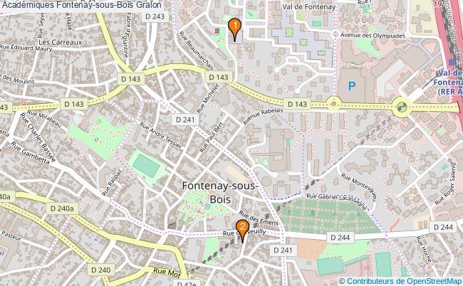 plan Académiques Fontenay-sous-Bois Associations Académiques Fontenay-sous-Bois : 2 associations