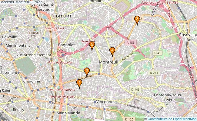 plan Accéder Montreuil Associations Accéder Montreuil : 7 associations