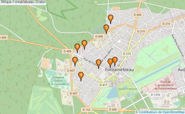 plan Afrique Fontainebleau Associations Afrique Fontainebleau : 9 associations
