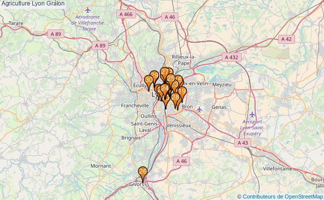 plan Agriculture Lyon Associations Agriculture Lyon : 94 associations