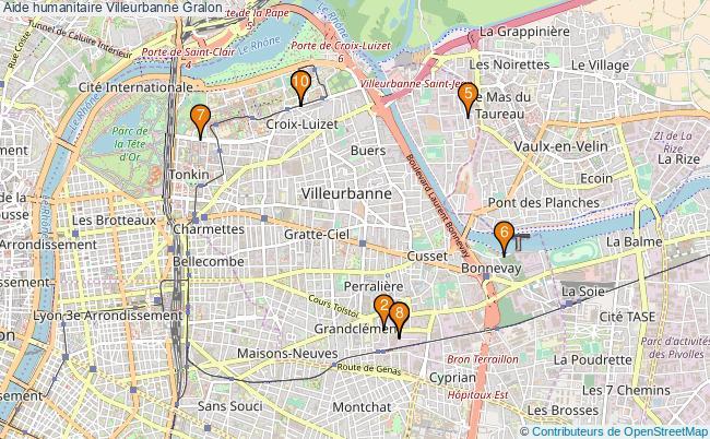 plan Aide humanitaire Villeurbanne Associations aide humanitaire Villeurbanne : 12 associations
