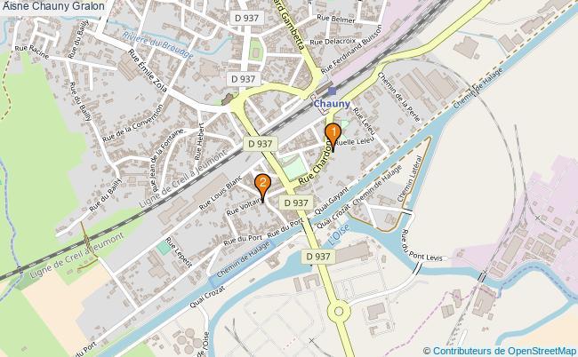 plan Aisne Chauny Associations Aisne Chauny : 2 associations