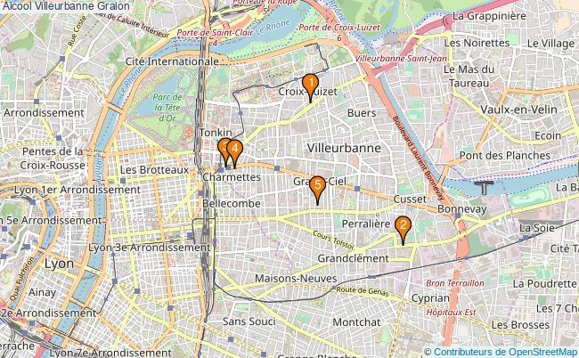 plan Alcool Villeurbanne Associations alcool Villeurbanne : 5 associations