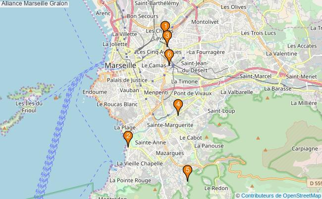 plan Alliance Marseille Associations Alliance Marseille : 6 associations