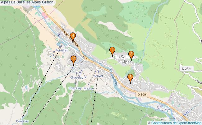 plan Alpes La Salle les Alpes Associations Alpes La Salle les Alpes : 5 associations