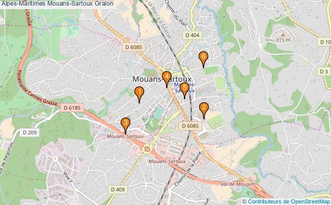 plan Alpes-Maritimes Mouans-Sartoux Associations Alpes-Maritimes Mouans-Sartoux : 6 associations