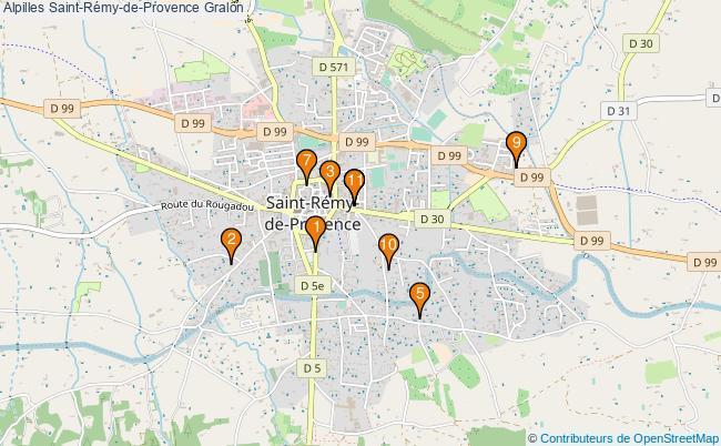 plan Alpilles Saint-Rémy-de-Provence Associations Alpilles Saint-Rémy-de-Provence : 11 associations