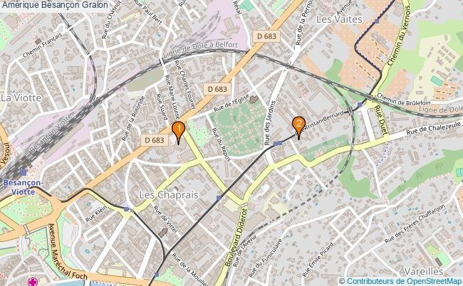 plan Amérique Besançon Associations Amérique Besançon : 2 associations