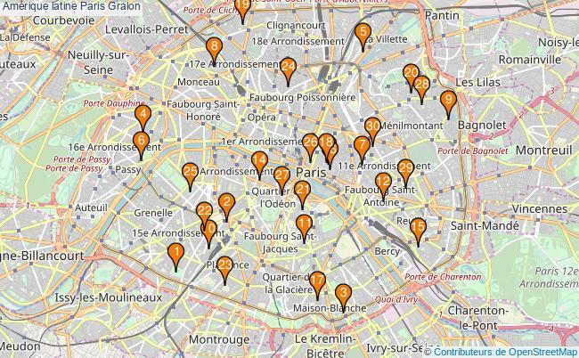 plan Amérique latine Paris Associations Amérique latine Paris : 133 associations
