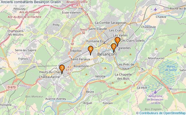 plan Anciens combattants Besançon Associations anciens combattants Besançon : 4 associations
