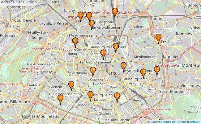 plan Ancrage Paris Associations Ancrage Paris : 17 associations