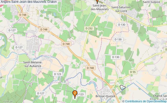 plan Angers Saint-Jean-des-Mauvrets Associations Angers Saint-Jean-des-Mauvrets : 2 associations