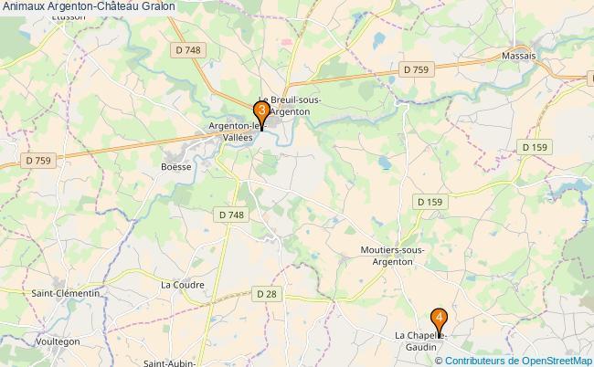 plan Animaux Argenton-Château Associations animaux Argenton-Château : 4 associations