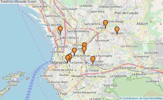 plan Antennes Marseille Associations antennes Marseille : 10 associations